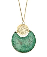 Tara Stone Crescent Necklace