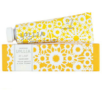 "Lollia hand cream ""at last"""