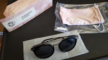 Summer & Rose Edgy Round Sunglasses