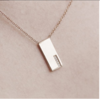 Summer & Rose Rectangle Necklace