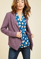 Sleek, Chic, and Totally Unique Blazer in Amethyst in L