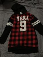 Sweatshirt tunic hoodie size 7/8
