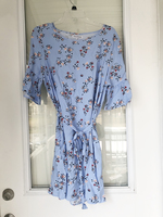Avid Dresser Blue Floral Bell Sleeve Dress