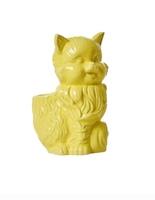 Ceramic Cat Toothbrush Holder in Yellow