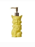 Ceramic Cat Soap Dispenser in Yellow