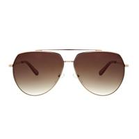 O By Oscar De La Renta Aviator Sunglasses- Gold