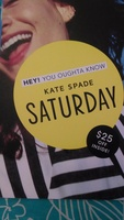 Kate Spade Saturday $25 code