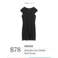 Kensie Lace Detail Knit Dress