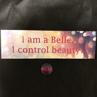 The Belles bookmark and button