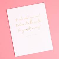 Misty Copeland quote 8x10 Gold Foil Wall Print