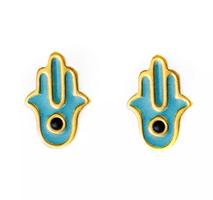 Hamsa Earrings by Robyn Rhodes $56