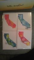 Watercolor Greeting Card Set