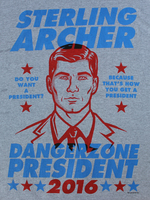 Sterling Archer President T-Shirt Loot Crate Aug 2016
