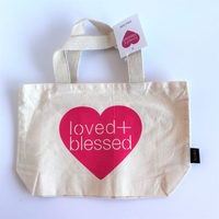 Loved & Blessed Small Canvas Bag 12 x 8 inch
