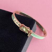 Enameled Belt Clasp Cuff