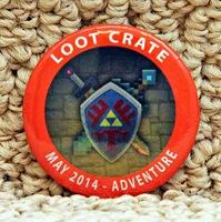 Adventure Loot Crate May 2014 Pin