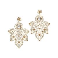 Jardin Gold Lace Pendant Earrings