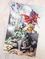 Batman & The Justice League Poster Art by Shiori Teshirogi Dec 2017 Underdog