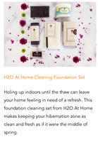 H2O at home Foundation Set Our best sellers bundled into convenient packages