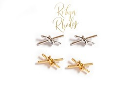 Robin Rhodes Barbed Wire Studs in Silver