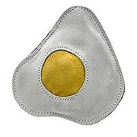 Aussie Naturals Fried Egg Eco-Friendly Leather Dog Toy