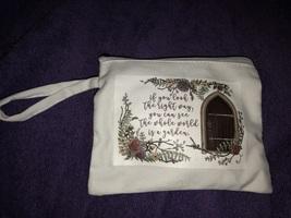 Small secret garden quote pouch