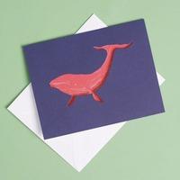Die Cut Whale Happy Birthday Card