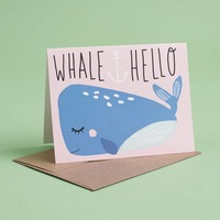 Whale Hello Greeting Card