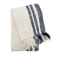 Woven Cotton Throw by Carol & Frank