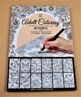 Adult Coloring Book (Butterflies)