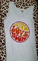 Live love meow tank top - EXCLUSIVE BY CAT LADY BOX