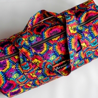 Cat Tie-Dye Duffel Bag