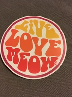"""Live Love Meow"" Car Magnet"
