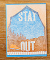 Stay Out Card