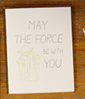 May the Force be with you Yoda Card