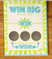 Win Big All Year Long Scratch Off Birthday Card (It's your best year yet)