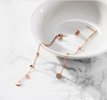 Jules Smith chain drop earrings - rose gold