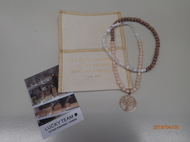 Lucky Team Bracelet with Rose Gold Tree Charm