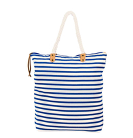 Summer & Rose Striped Tote - Blue Stripes