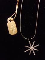 ArtZen White Topaz & Sterling Silver Pendant Necklace