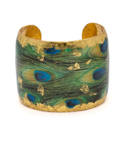 """""""Feathered Peacock"""" Cuff by Evocateur"""
