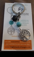 Tree of Life Keychain for Grounding - Turquoise and Lava