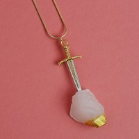 Sword in the Stone Pendant Necklace