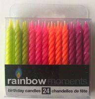 Rainbow 🌈 birthday candles