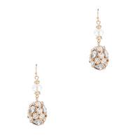 Stein & Blye Crystal Drop Earrings