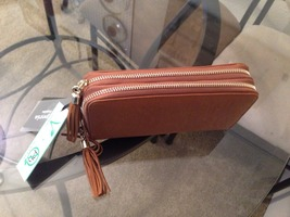 Emperia vegan leather tasseled wallet