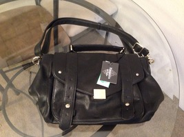 Emperia black leather purse