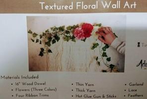 Textured Floral Wall Art-full box