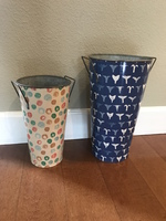 Metal Flower Buckets (set of 2)