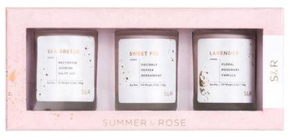 Summer & Rose Candle Trio